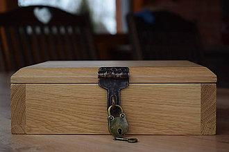 Krabičky - Dubová truhlička na britvy - 8944066_