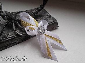 Pierka - Svadobné pierko v bieloZlatom III. - 8943341_