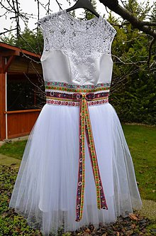Šaty - Folk svadobne saty/ popolnocne saty - 8944106_