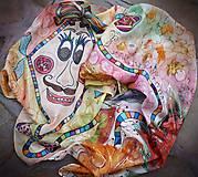 Pán Šarkan-detský hodvábny maľovaný šál
