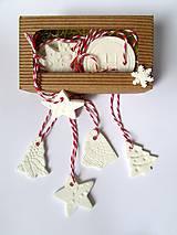 Dekorácie - Vianočné ozdoby - SADA 6 kusov - 8943604_