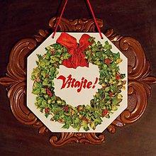 Tabuľky - Vianočná uvítacia tabuľka Vitajte - 8945216_