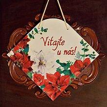 Tabuľky - Vianočná tabuľka Vitajte u nás - 8945258_