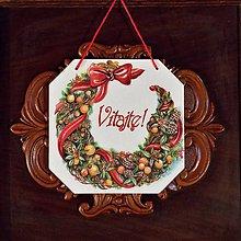 Tabuľky - Vianočná tabuľka Vitajte - 8945293_