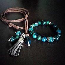 Sady šperkov - Set náramok a prívesok - 8943560_