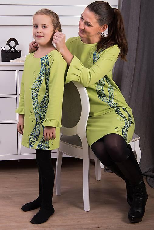 Zelená maľovaná tunika pre malú dámu   miracles.style - SAShE.sk ... ff75b58f3c5