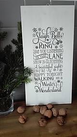 Drevená vianočná tabuľka