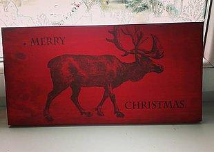 Dekorácie - Drevená vianočná tabuľka - 8944138_