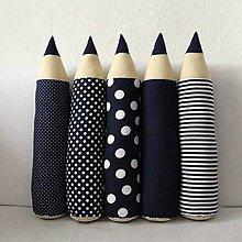 Úžitkový textil - Tmavomodré ceruzky - 8943050_