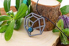 Náhrdelníky - Geometrický náhrdelník No. 2 - 8944197_