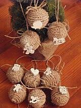 - Vianočné zasnežené gule - sada 9 kusov - 8943478_