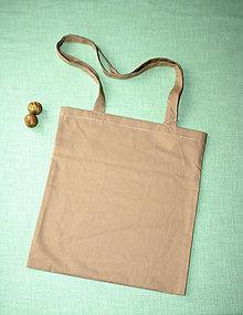 Nákupné tašky - Hnedá prírodná taška - 8946934_