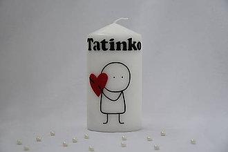 Svietidlá a sviečky - sviečka Tatinko - 8946017_