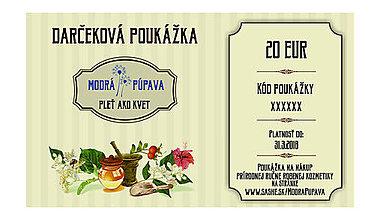 Darčekové poukážky - Darčekové poukážky pre PLEŤ AKO KVET :) - 8945836_