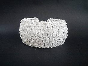 Náramky - Náramok široký - Crystal/svadobný - 8946963_
