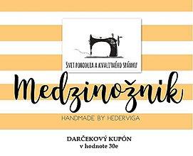 Úžitkový textil - DARČEKOVÝ KUPÓN v hodnote 35e - 8947596_