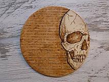 Pomôcky - Podložka pod pohár - Skull - 8947063_