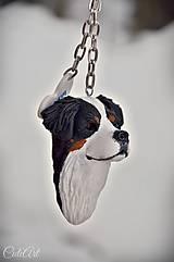 Kľúčenky - Bernský salašnícky pes - kľúčenka podľa fotografie psa - 8946073_