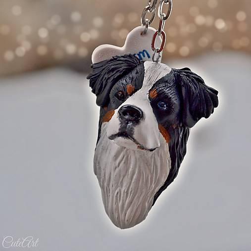 Bernský salašnícky pes - kľúčenka podľa fotografie psa