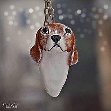 Kľúčenky - Bígel (beagle) - prívesok podľa fotografie psa - 8946062_