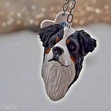 Kľúčenky - Bernský salašnícky pes - kľúčenka podľa fotografie psa - 8946074_