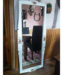 Zrkadlá - Zrkadlo stojace divý mak, wintage - 8946247_