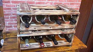 Nábytok - Stojan, debnička na víno na 4fľaše - 8948239_
