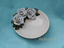 keramický tanier ruže