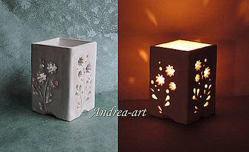 Svietidlá a sviečky - svietnik pre príjemnú atmosféru - 8947196_
