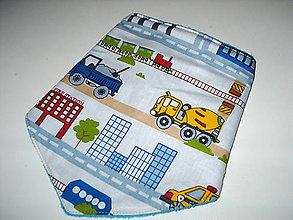 Detské doplnky - nákrčník autá na stavbe - 8946624_