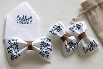 Doplnky - šuhaj maľovaný veľká modrá sada (Čierna) - 8946287_