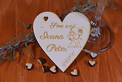 - Gravírovaná drevená svadobná magnetka ako darček na redový tanec 114 - 8947250_
