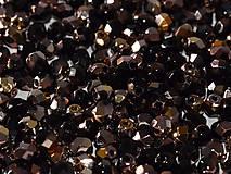 - Korálky 20 ks - brúsené Ø 4 mm - čierne/medenozlaté - 8948111_