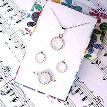 Sady šperkov - Classic Moonstone Silver Ag 925 Set / Strieborná sada s mesačným kameňom - 8951365_