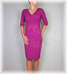 Šaty - Šaty vz.392 (více barev) (Bordová) - 8951127_