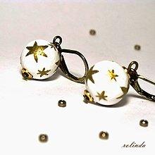 Náušnice - Malé zlaté hvězdy - 8951683_