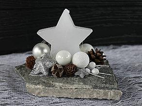Dekorácie - hviezdička na kameni_ vianočné aranžmá - 8950842_