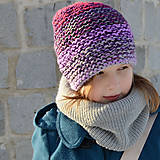 Detské čiapky - melír čiapka JEDINÁ - 8951821_