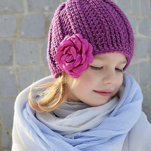 e9aad69b56ac Hrubá čiapka z MERINA s kvetom   anthony - SAShE.sk - Handmade ...