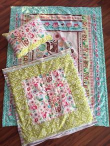 Textil - Krásny americký set - deka a paplónik s vankúšom. - 8950436_