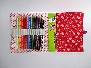 Detské tašky - pastelkovník peračník (srdiečkový) - 8949997_