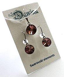 Sady šperkov - Swarovski rivoli Blush Rose - sada - 8952051_