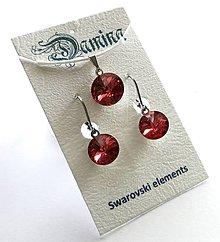 Sady šperkov - Swarovski rivoli Padparadscha - sada - 8952057_