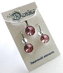 Sady šperkov - Swarovski rivoli Light Rose - sada - 8952059_