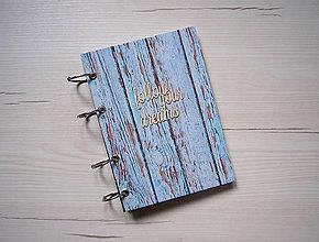 Papiernictvo - Riadkovaný zápisník Follow Your Dreams, A5 - 8950632_