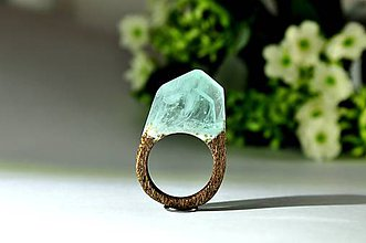 Prstene - Drevený prsten Odviate snehom - 8949519_