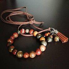 Sady šperkov - Set náramok a prívesok - 8949857_