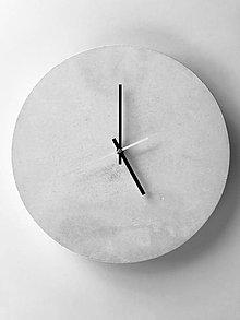 Hodiny - Betónové hodiny - PURE white 40 - 8950188_