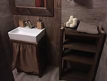 """Nábytok - Stolík pod umývadlo """" staré dosky """" - 8951405_"""