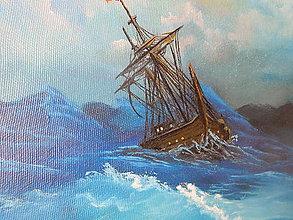 "Obrazy - Obraz ""loď na búrlivom mori"" o08 - 8951324_"